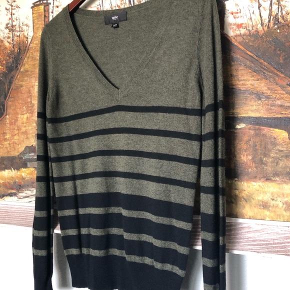 Massimo Sweaters Olive Green And Black Sweater Poshmark